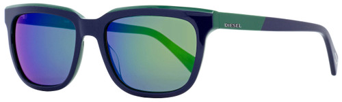 Diesel Rectangular Sunglasses DL0224 92Q Blue/Green 56mm 224