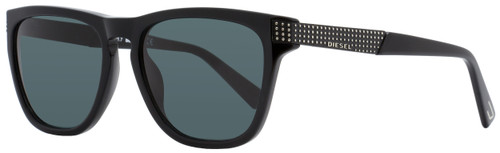 Diesel Rectangular Sunglasses DL0236 01A Shiny Black   54mm 236