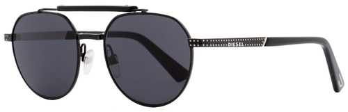 Diesel Oval Sunglasses DL0239 01A Shiny Black   52mm 239