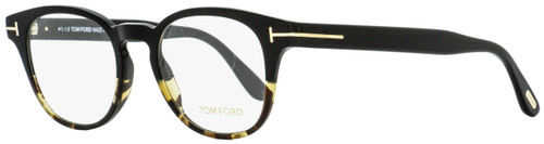 Tom Ford Oval Eyeglasses TF5400 005 Black/Vintage Havana 48mm FT5400