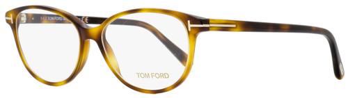 Tom Ford Oval Eyeglasses TF5421 053 Blonde Havana 53mm FT5421