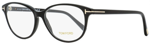 Tom Ford Oval Eyeglasses TF5421 001 Shiny Black 55mm FT5421