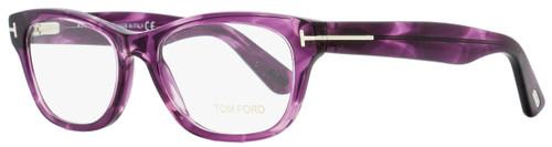 Tom Ford Rectangular Eyeglasses TF5425 081 Shiny Violet 53mm FT5425