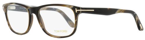 Tom Ford Rectangular Eyeglasses TF5430 062 Brown Horn 56mm FT5430
