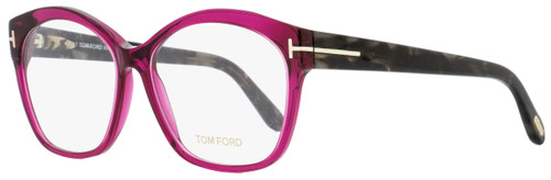 Tom Ford Butterfly Eyeglasses TF5435 075 Fuchsia/Dark Havana 57mm FT5435