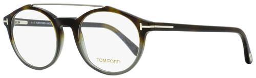 Tom Ford Oval Eyeglasses TF5455 055 Dark Havana/Shaded Gray 50mm FT5455