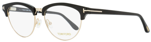 Tom Ford Oval Eyeglasses TF5471 001 Black/Gold 53mm FT5471