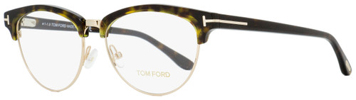 Tom Ford Oval Eyeglasses TF5471 052 Dark Havana/Gold 53mm FT5471