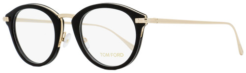 Tom Ford Oval Eyeglasses TF5497 001 Black/Gold 48mm FT5497