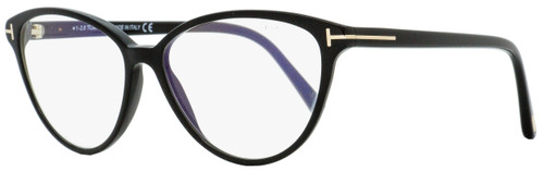 Tom Ford Blue Block Eyeglasses TF5545B 001 Black/Gold 55mm FT5545