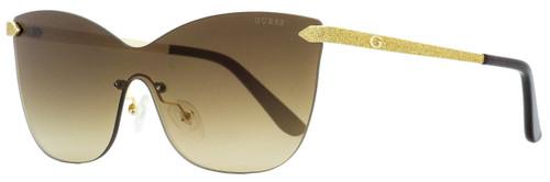 Guess Shield Sunglasses GU7549 32G Gold/Black 0mm 7549