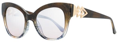 Guess Butterfly Sunglasses GU7596 55G Brown/Gray Melange 52mm 7596