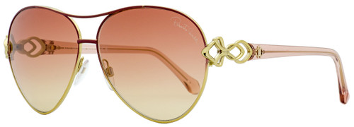 Roberto Cavalli Aviator Sunglasses RC1078 Minucciano 33U Gold/Wine Red 61mm 1078