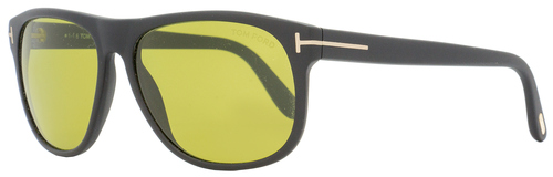 Tom Ford Rectangular Sunglasses TF236 Olivier 02N Matte Black 58mm FT0236