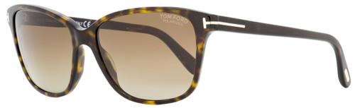 Tom Ford Butterfly Sunglasses TF432 Dana 52H Havana Polarized 59mm FT0432