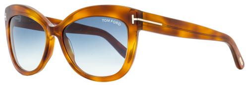 Tom Ford Cateye Sunglasses TF524 Alistair  53W Blonde Havana 56mm FT0524
