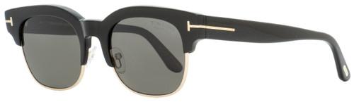 Tom Ford Rectangular Sunglasses TF597 Harry-02 01D Black/Gold Polarized 51mm FT0597