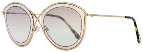 Tom Ford Cateye Sunglasses TF604 Sascha-02 47G Gold/Light Brown 55mm FT0604