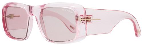 Tom Ford Rectangular Sunglasses TF731 Aristotle 72Y Transparent Pink 56mm FT0731