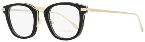 Tom Ford Square Eyeglasses TF5496 001 Shiny Black/Gold 47mm FT5496