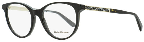 Salvatore Ferragamo Oval Eyeglasses SF2805R 001 Black/Gold 52mm 2805