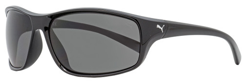 Puma Sport Sunglasses PE0075S 002 Shiny Black 66mm 75