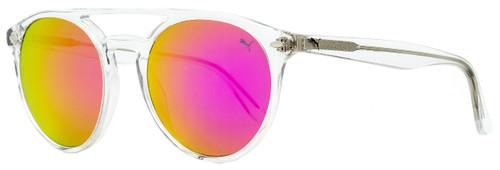Puma Oval Sunglasses PE0078S 002 Crystal 51mm 78