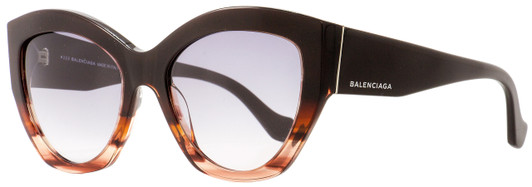 Balenciaga Round Sunglasses BA86 33G Gold//Havana 55mm BA0086
