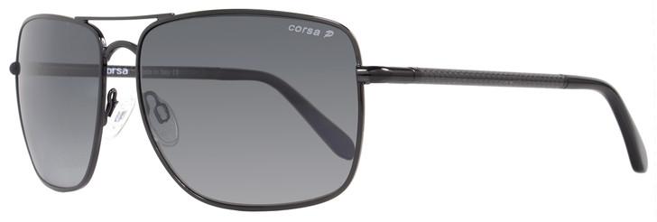Corsa Rectangular Sunglasses Enzo C03 Shiny Black/Carbon Fiber Polarized
