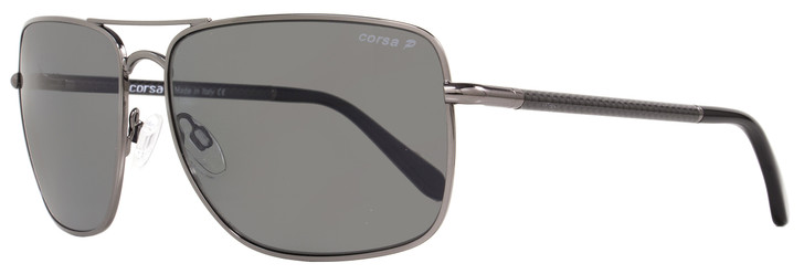 Corsa Rectangular Sunglasses Enzo C06 Gunmetal/Carbon Fiber Polarized
