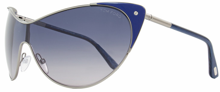 Tom Ford Shield Sunglasses TF364 Vanda 89W Ruthenium/Indigo Blue FT0364