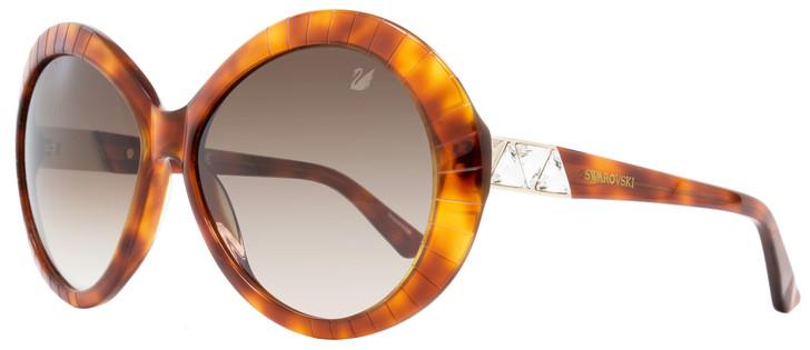 Swarovski Round Sunglasses SK0071 Dolce 53F Light Havana/Gold SW71