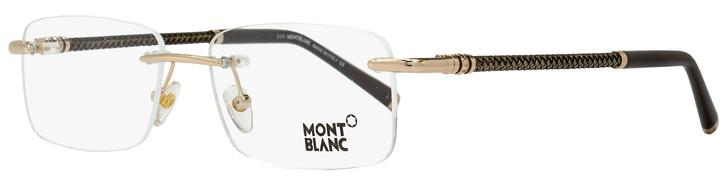 Montblanc Rimless Eyeglasses MB391 028 Size: 55mm Rose Gold/Brown 391