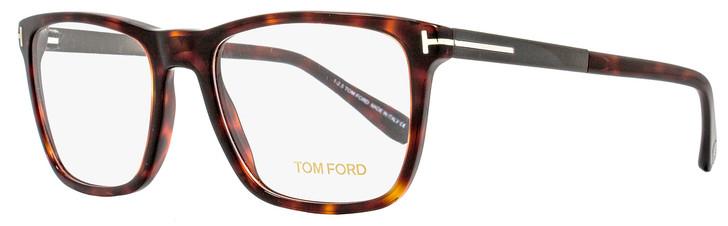 Tom Ford Square Eyeglasses TF5351 052 Size: 54mm Red Havana/Dark Ruthenium FT5351
