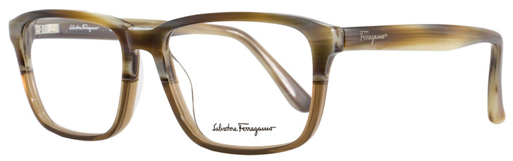 Salvatore Ferragamo Rectangular Eyeglasses SF2738 217 Size: 54mm Brown Horn 2738