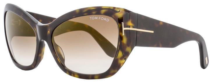 Tom Ford Butterfly Sunglasses TF460 Corinne 52G Dark Havana FT0460