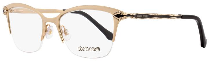 Roberto Cavalli Semi-Rimless Eyeglasses RC861 Diadema 028 Size: 50mm Rose Gold/Black 861