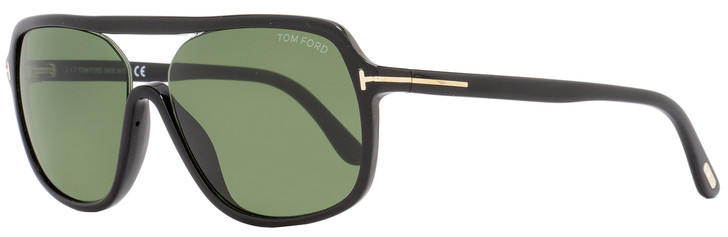 Tom Ford Rectangular Sunglasses TF442 Robert 01N Black/Gold FT0442
