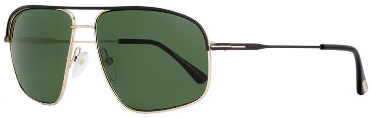 Tom Ford Square Sunglasses TF467 Justin 02N Black/Rose Gold FT0467