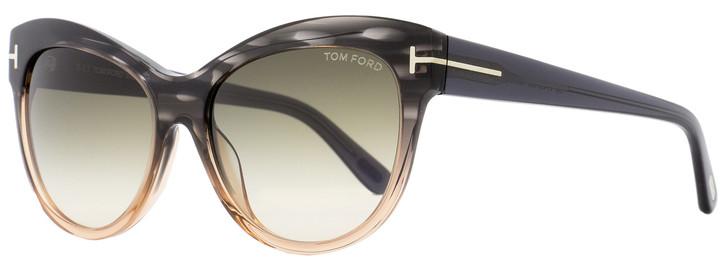 Tom Ford Cateye Sunglasses TF430 Lily 20P Melange Gray/Peach FT0430