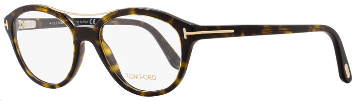 Tom Ford Oval Eyeglasses TF5412 052 Size: 52mm Dark Havana/Gold FT5412