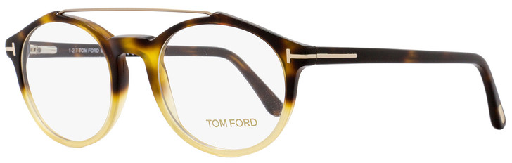 Tom Ford Oval Eyeglasses TF5455 056 Size: 50mm Havana/Amber FT5455