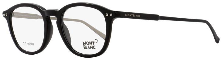 Montblanc Oval Eyeglasses MB614 005 Size: 49mm Black/Palladium 614