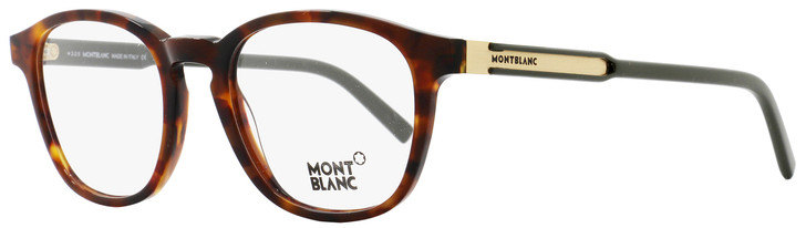 Montblanc Oval Eyeglasses MB632 A56 Size: 50mm Dark Havana/Green/Bronze 632