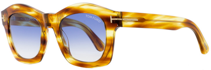Tom Ford Oval Sunglasses TF431 Greta 41W Brown Striped Honey FT0431