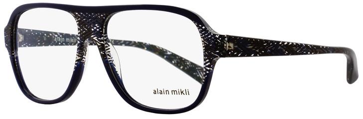 Alain Mikli Square Eyeglasses A03051 E016 Size: 56mm Blue/Brown Chevron 3051