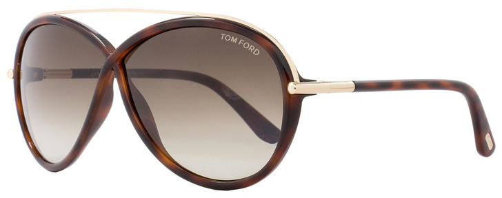 Tom Ford Butterfly Sunglasses TF454 Tamara 52K Havana/Gold FT0454