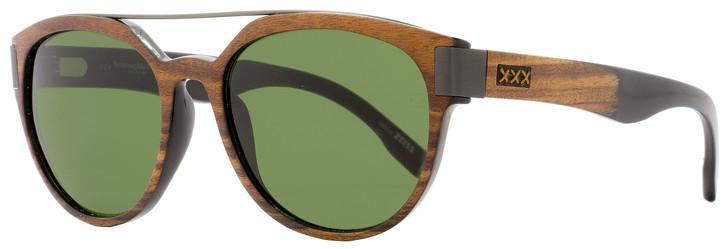 Ermenegildo Zegna Couture Oval Sunglasses ZC0004 50N Asam Wood/Horn/Ruthenium 0004