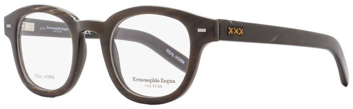 Ermenegildo Zegna Couture Oval Eyeglasses ZC5014 062 Size: 47mm Brown Horn 5014