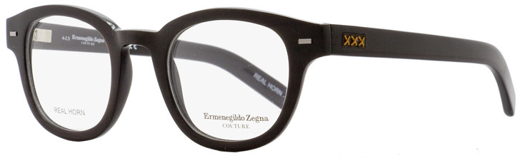 Ermenegildo Zegna Couture Oval Eyeglasses ZC5014 063 Size: 47mm Black Horn 5014